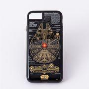 STAR WARS ミレニアムファルコンFRASH基板アート iPhoneXケース黒