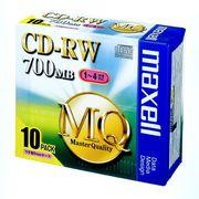 マクセル PC DATA用CD-RWシルバー10枚 CDRW80MQ.S1P10S 00066083