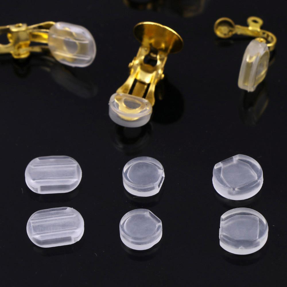 イヤリング用シリコンカバー 10個 滑り止め 痛くなりにくい クリップシリコンカバー パーツ 部品 材料