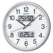 セイコー 温湿度計カレンダー付電波アナログ掛時計 KX383S 00023216