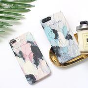 POPでおしゃれなパステルカラーの油絵アート風デザインのiPhoneケース♪