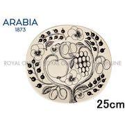 Y) 【アラビア】 006666  オーバルプレート 25cm PARATIISI ブラック パラティッシ