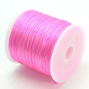 50m巻 ゴムテグス 伸縮性のあるポリウレタン/オペロンゴムラバーコード ピンク