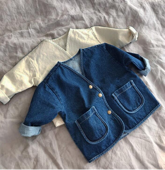 ジャケット デニム 2色 キッズ 90-130 普段着 長袖 子供服 コート 日常用 女の子