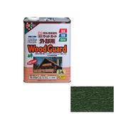 アサヒペン ウッドガード外部用 3.4L コロラドグリーン×5セット