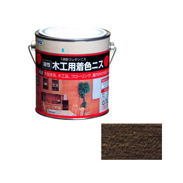 アサヒペン 木工用着色ニス 0.7L ダークオーク×5セット