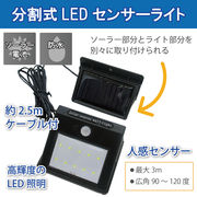 分割式LEDセンサーライト(60Wクラス)