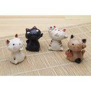 「陶製の置物」 猫 置物【NO.1】