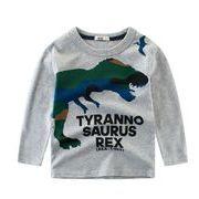 Tシャツ 秋 キッズ服 子供 ブラウス トップス 長袖Tシャツ カジュアル系 恐竜 男の子
