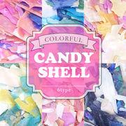 夏ネイル キャンディカラーが可愛い♪【カラフル キャンディシェル 6種】 レジン ハンドメイド