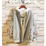 秋冬新作メンズコート トップス大きいサイズ ゆったり おしゃれ♪グレー/ブラック2色