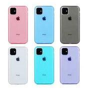 iPhoneケース ソフトケース クリア シンプル 6色 iPhoneケース