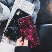 大理石 天然石 ボルドー ブラック iPhoneケース