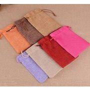 新作★小物入り★巾着袋 麻布袋 収納袋 10*14cm
