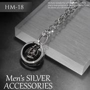 ネックレス  メンズ リング 王冠 ネックレス HM-18