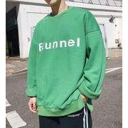 秋冬新作メンズTシャツ トップス シンプル キレイ目♪オレンジ/グリーン2色