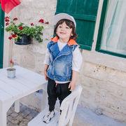キッズデニムシャツ ニット 無袖  ファッション かっこいい 男の子 子供服 kids