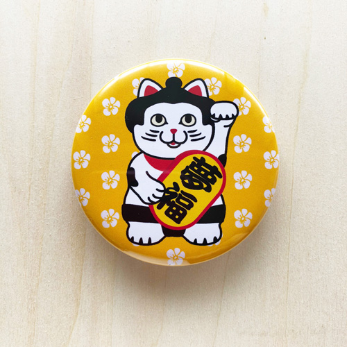 夢祈願 猫綱 缶バッジ