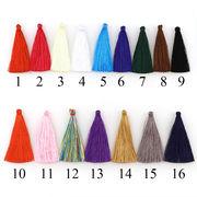 全16色 6.5cmタッセル 10個 レーヨン フリンジ カンなし 糸 鞄飾り アクセサリーパーツ
