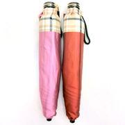 【日本製】【雨傘】【折りたたみ傘】日本製甲州産先染朱子格子織生地軽量コンパクト折畳傘