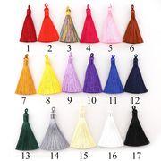 全17色 8cmタッセル 5個 レーヨン カン付き フリンジ 糸 鞄飾り チャーム アクセサリーパーツ