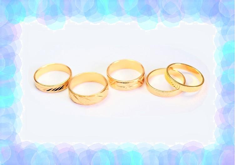 【売り尽くしセール】銅製高品質 リングパーツ 模様刻みリングパーツ 10円均一