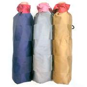 【日本製】【折りたたみ傘】甲州産先染朱子格子市松柄8本骨軽量折畳傘