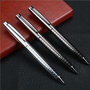 金属製ボールペン ノック式ボールペン 文房具 筆記具 ブルー/ブラックインク
