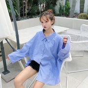 秋冬新商品730027 大きいサイズ 韓国 レディース ファッション ワンピース シャツ