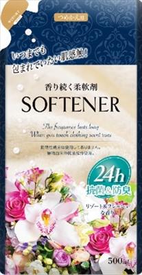 香り続く柔軟剤 リゾート&フレッシュな香り 詰替 500ml 【 カネヨ石鹸 】 【 柔軟剤 】