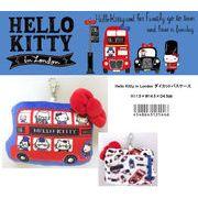 「定期券入り」「サンリオ」Hello Kitty in London ダイカットパスケース