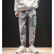 秋冬新作メンズジーンズ パンツ大きいサイズ おしゃれ♪ピンク/ブルー2色