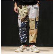 秋冬新作メンズパンツ ズボン大きいサイズ 迷彩 おしゃれ♪イエロー/レッド2色