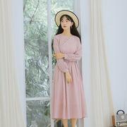 【森ガール系】レトロチャイナ服長袖ワンピース_558268530453