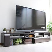 伸縮テレビ台 60インチ対応 ローボード   コーナーTV台にも ブラウン JVA-102-DBR