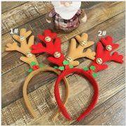 クリスマス 装飾品 鹿の角の箍 鈴をつける 成人子供  道具を演ずる 頭の飾り 贈り物