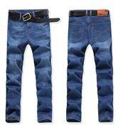 秋冬新作メンズジーンズ パンツ大きいサイズ おしゃれ 通勤通学♪ブルー/ブラック2色