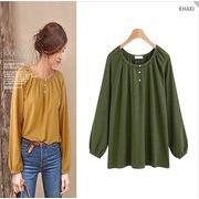 【大きいサイズL-4XL】ファッションワイシャツ♪グリーン/イエロー2色展開◆