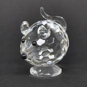 <AMANO>【ガラス製オブジェ】クリスタルガラス・マウス