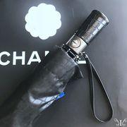 定形外771012】ワニ革風 ワンタッチカサ 自動折り畳み傘 日傘 クロコダイルレザー オンブレル アンブレラ