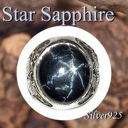 大きいサイズ / 09-74-1  ◆ Silver925 シルバー 虎&ライオン リング スター サファイア 23号