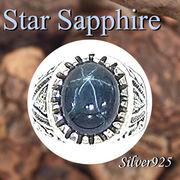 大きいサイズ / 09-30-11  ◆ Silver925 シルバー リング スター サファイア 20号