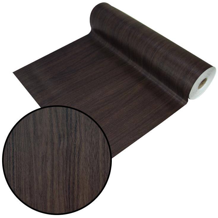 はがせるシール壁紙 ウォールデコシート【30m巻】濃いダークブラウンの木目柄【DW-34】