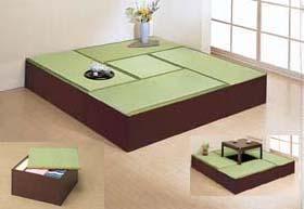 高床式ユニット畳セット(1畳タイプ4本+半畳タイプ1本)DBR・日本製 FM001-FM002-SET5-DBR