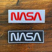 NASA公認ワッペン・アップリケ・NASAロゴ・ロゴタイプ(ワーム)2枚セット