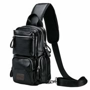 ボディバッグ メンズ 大容量 PUレザー 防水 アウトドア 通勤 通学 自転車 ショルダーバッグ 斜めがけバッグ
