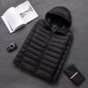 ダウンジャケット ダウンコートアウター フード付 保温性 暖かい ポケット付き 冬 ジャケット