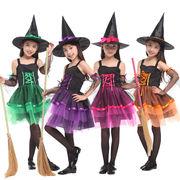 ハロウィン  魔女 コスプレ キッズ 親子 ペア 衣装 子供コスチューム ドレス ワンピース 可愛い 女の子
