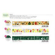 パピアプラッツ【Papier Platz】デザイナーズ マスキングテープ mizutama(みずたま)3種
