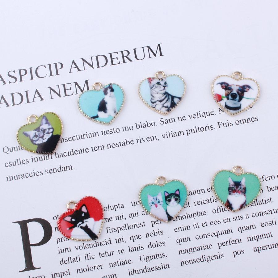ハンドメイド パーツ 材料 メタルチャーム 猫 犬 デコ チャーム